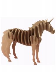 Maquette licorne en carton 21,5 x 4 x 17 cm