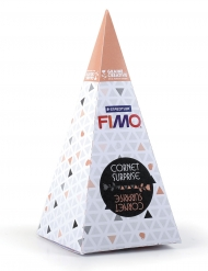 Cornet surprise orange FIMO® Licorne 17 x 7 cm