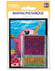 6 Cartes mosaïque holographiques Narval 10 x 16 cm