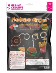 Kit plastique dingue 6 porte-clefs Junk food