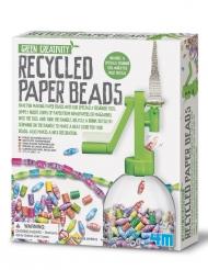 Kit écologique perles en papier recyclé 22 x 18 cm