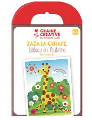 Tableau en feutrine Girafe 21 x 16 cm