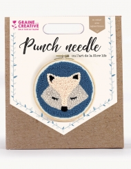 Kit de broderie Punch needle Renard 23 x 26 cm