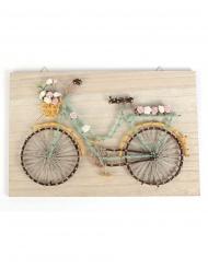 Tableau string art en bois Vélo 30 x 20 cm