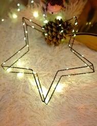 Décoration lumineuse étoile 30 cm