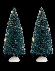 2 Sapins de table lumineux 15 cm