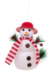 Suspension bonhomme de neige 17 cm modèle aléatoire