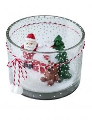 Bougeoir avec bougie paysage de Noël 130 g
