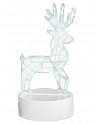 Décoration lumineuse cerf holographique 18,5 x 10 cm