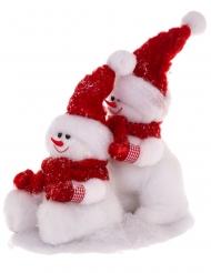Décoration bonhommes de neige 34 cm