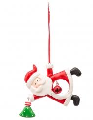 Suspension Père Noël avec grelot 10 cm modèle aléatoire