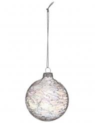 Boule de noël irisée 7 cm