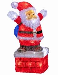 Père Noël lumineux 30 x 40 cm