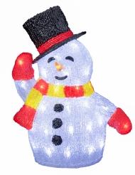 Bonhomme de neige lumineux 34 x 40 cm