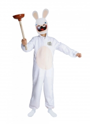 Déguisement avec masque Lapins Cretins™ enfant