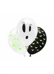 3 Ballons en latex Halloween fluo 27 cm