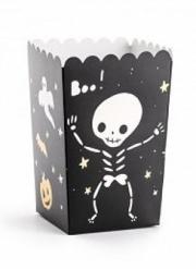 6 Boîtes à popcorn Halloween Boo ! 7 x 7 x 12,5 cm
