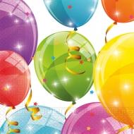 20 Serviettes en papier home compostable ballons colorés 33 x 33 cm
