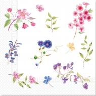 20 Serviettes en papier home compostable fleurs des champs 33 x 33 cm