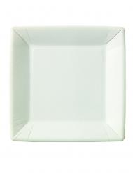 20 Assiettes carrées en carton 23 x 23 cm