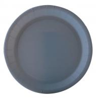 10 Assiettes en carton gris 22 cm