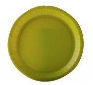 10 Assiettes en carton vert anis 22 cm