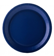 10 Assiettes en carton bleu marine 22 cm