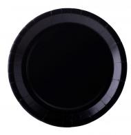 10 Assiettes en carton noir 22 cm