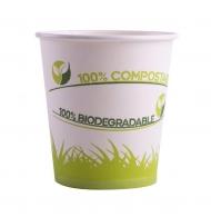 50 Gobelets green en carton 200 ml