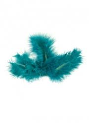 20 Plumes de décoration turquoise 10 cm