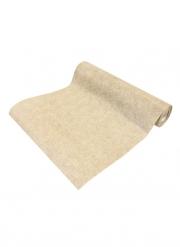 Chemin de table intissé effet coton naturel 28 cm x 5 m