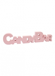 Déco de table en bois Candy Bar rose 27 cm