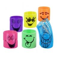 6 Slinkies smileys 3 cm