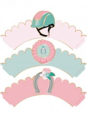 6 Habillages moules à cupcake Cheval
