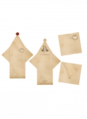 8 Invitations avec enveloppes apprenti sorcier 29 x 20 cm