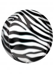 Ballon imprimé zèbre 38 cm