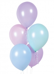 10 Ballons en latex pastel assortis 28 cm