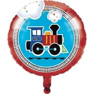Ballon en aluminium petit train 45 cm