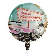 Ballon aluminium Joyeux Anniversaire Rock'n'roll  45 cm
