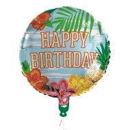 Ballon aluminium Happy Birthday Paradise 45 cm