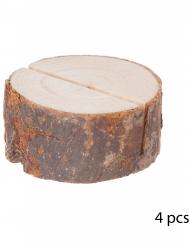 4 Marques places en bois 4 x 1,5 cm