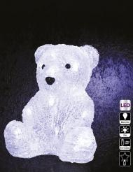 Décoration lumineuse ours polaire 20 cm