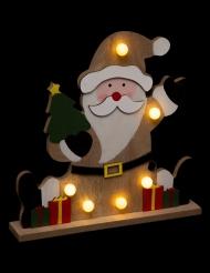 Décoration Père Noël lumineux 25 cm
