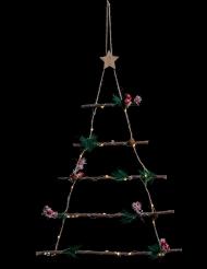 Sapin lumineux à suspendre forme échelle 28 LED 63 cm