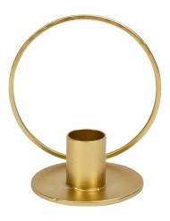 Bougeoir cercle métal doré 10 cm