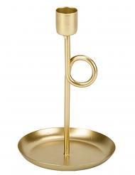 Bougeoir sur pied en laiton doré 16,5 cm