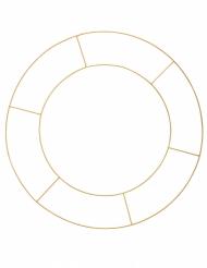 Cerceau double en métal doré pour suspensions 60 cm