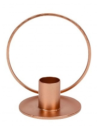 Bougeoir cercle rose gold 10 cm