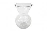 Vase arrondi effet craquelé 16 x 23 cm
