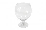 Vase ballon en verre 18 x 25 cm